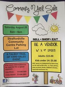Vendors Wanted for Large Community Yard Sale