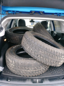 5 Almost New Firestone Destination A/T tires - Off Road/Jeep