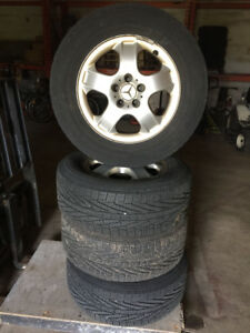 4x Mercedes Alloy Tires and Rims 255/60 R17