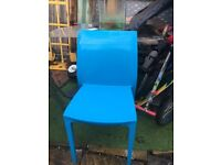 Allibert Sento chair light blue garden home patio kitchen stacking