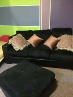Black sofa. It's not a sectional