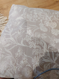 Pair curtains 90 by 90 marks and spencer lined embroidered damask