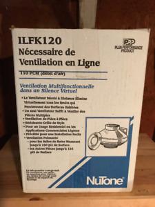 ENSEMBLE POUR VENTILATEUR EN LIGNE Nutone Modèle ILFK120
