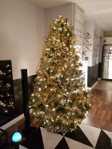 Indoor Christmas Tree with Ornaments