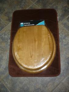 New Oak round toilet seat