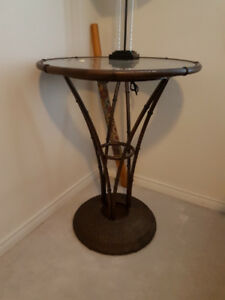 Pub height Wicker dining table