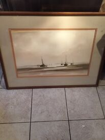 R Witchard nautical watercolour ( listed artist )