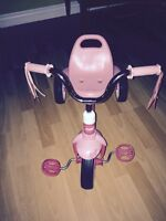 Pink radioflyer tricycle