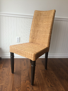 8 Rattan Dining Chairs