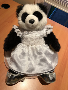Build-A-Bear Panda with Wedding Dress and Heels