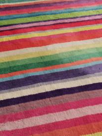 IKEA soft pile Egyptian cotton multicolour rug