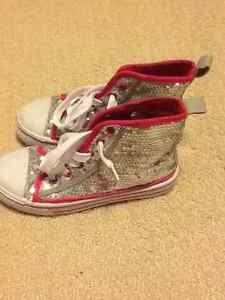 Size 12 girls sparkly high tops