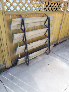 READY TO INSTALL - 4 Step Steel Riser with 2x6 wood steps!