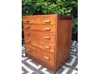 Plan chest/ school drawers