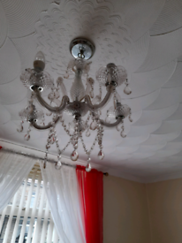 Fitted ceiling lights x 2 glass comes with bulbs