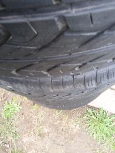4 pneus été Yokohama 225/55R17 bons pour 2 été