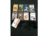 Psp console & games