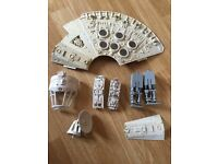 Star Wars original millennium falcon parts. 1980s