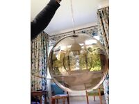 Large Glass Pendant Light