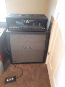 Peavey Valveking 100 Head with Cabinet and footswitch