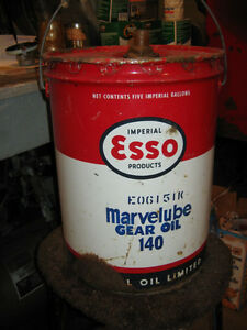 Esso Marvelube 5 Gallon Oil Pail Regina Regina Area image 2