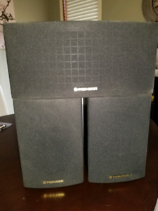 Pioneer rear and center channel speakers
