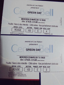 Billets pour Green Day - Rouge 103 E - 22 mars 2017 Montreal