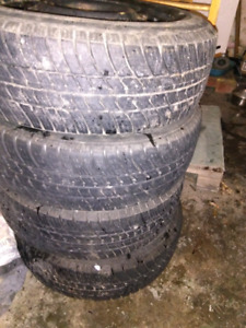 4x100 steel rims with good all season tires