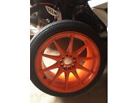"""18"""" XXR 527 wheels and tyres"""