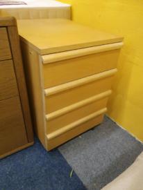 Bedside drawer beech