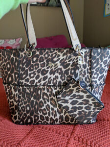 Leopard Print Guess Purse - Large, Used Once!