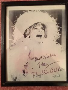 Autographed Phyllis Diller