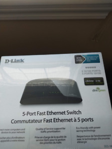 D-Link 100mbps switch BRAND NEW