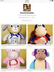 Personalized Stuffed Animals (Embroidered)