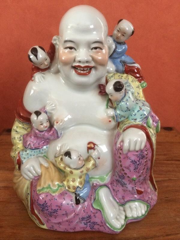 Chinese Porcelain Famille Rose Buddha In Bangor