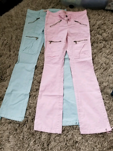 Guess pants-pastel blue and pink