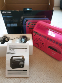 Bush wave CD/radio boombox - pink