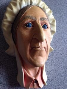 Betsey Trotwood chalk ware head