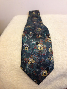 Gold City Hand Made Silk Tie ( Micky Mouse)