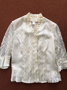 Nice women top with buttons - lace.