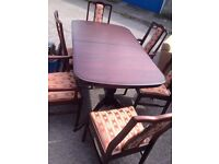 Lovely stag dining table and 6 chairs