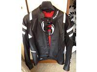 Richa real leather padded bike jacket new