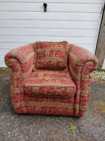 Elephant pattern arm chair