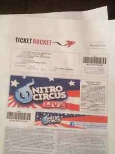 3 nitro circus tickets for sale!!!