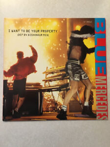 """BLUE MERCEDES """"I Want To Be Your Property"""" Vinyl 12"""" (1987)"""
