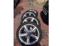 Audi genuine 18 ronal alloy wheels and tyres