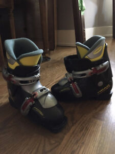 Boy girl children HEAD black junior 21.5 Ski boots