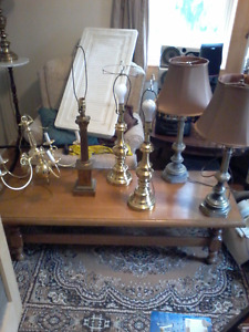 Various lamps and fixtures
