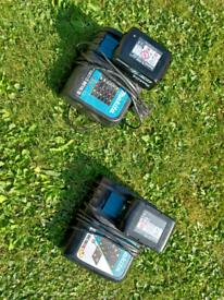 Makita 18v 5amp battery X 2 + chargers