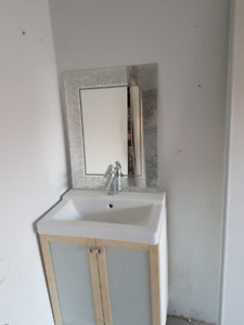"24"" Clean Vanity with Mirror and Faucet"